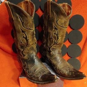 Mezcalero Alcalas Distressed Cowboy Boots.10.5 EE